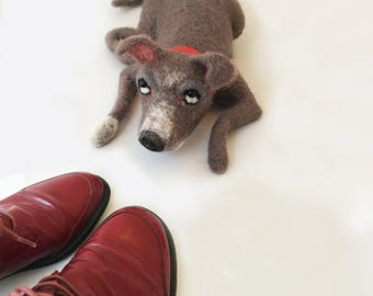 Needle Felted Guilty Dog