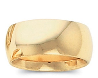 14k Yellow Gold 8mm Wedding Band