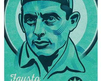 Giro d'Italia, Fausto Coppi cycling print, wall decor art print