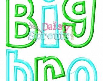 Big Bro Machine Applique - Instant Download
