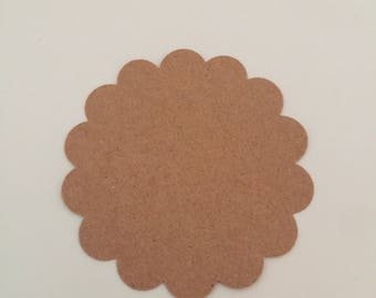 scallop die cut blank tags -scrapbooking - card making - gifting