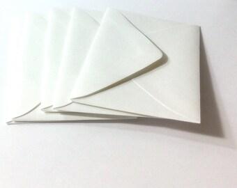 18 White  Mini Envelopes ,  4.25 X 2.5 inches