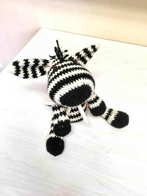 Crochet amigurumi zebra kids gift idea boys girls baby shower home decor interior design nursery  soft toys