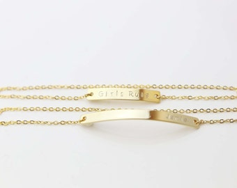 ULTIMATE Gold Bar Bracelet / Personalized Bracelet / Initial Name Bracelet