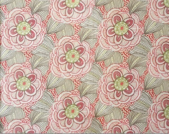 Pretty Floral Fabric Remnant, Large Remnant, Pastel Fabric, Pastel Pink, Pastel Green, Fabric Australia, Quilting Cotton, Cotton Fabric
