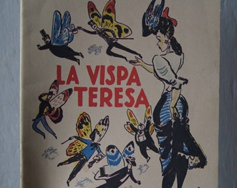 old italian illustrated book La Vispa Teresa by Trilussa 1944 reprint letterpress rare anastatic printing