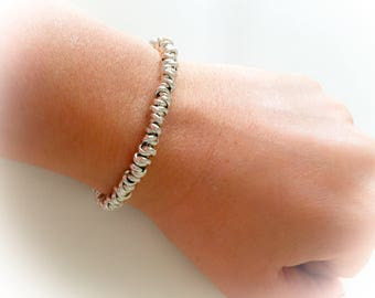 Bracelet with knots aluminum