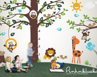 Playroom Wall decal Playroom Growth Chart Alphabet tree Decal- Wall Décor with Playroom  sc 1 st  Etsy & Alphabet tree decal | Etsy