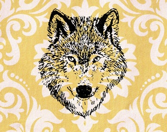 Wolf Stamp: Wood Mounted Rubber Stamp