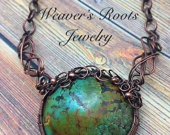 Tibetan Turquoise Tree of Life Necklace  Antique Copper, Free USA Shipping,Inspirational Artisan Jewelry,Birthday, Anniversary, Friend,