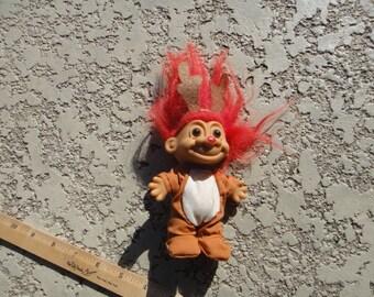 Troll / Reindeer Troll / Vintage Doll / Cute Trolls / Rare Trolls