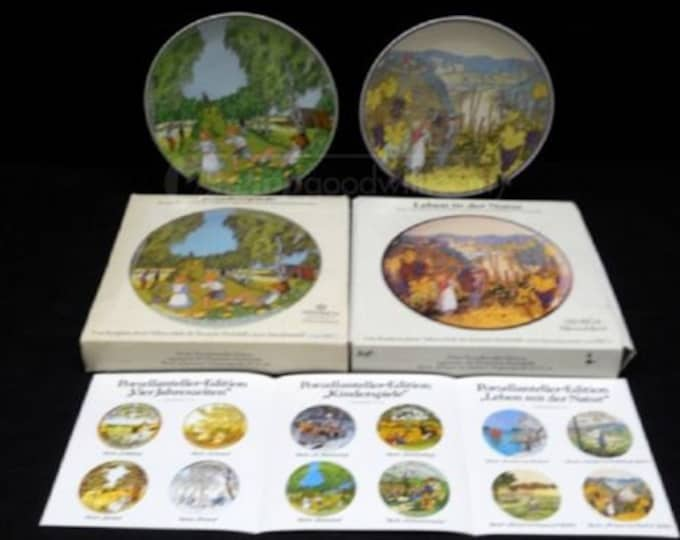 Vintage Hindrich Collectable Plates in original boxes, Great Gift