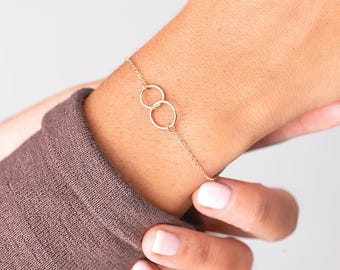 Friendship Bracelet, Dainty Gold Bracelet Gold, Jewelry Gift Eternity Bracelet, Mothers Gift, Mother's Bracelet, Gift for Best Friends