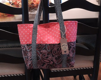 Paisley and Polka Dots Tote Bag