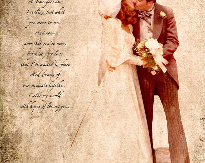 Parents Anniversary Gift Wedding Decoration Custom Personalized Wedding Vows Song Lyrics Photo Gift Canvas 16x20
