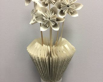 Vase and flowers book art