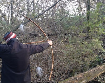 "62"" long Osage Orange Longbow  with a 48# @ 28 Inch draw"