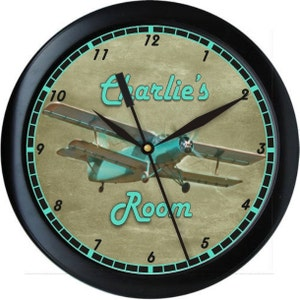 Airplane Clock Etsy