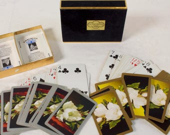 Vintage Congress Playing Cards Magnolia bloom double Deck