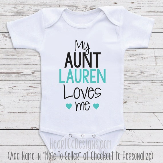 Personalized baby clothes my aunt loves me short like this item negle Images