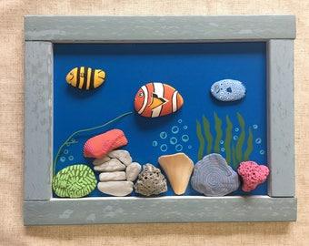 Stone Art Fish Tank Nemo frame