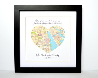Christmas Gift- Personalized Family Gift, Gift For Her, Gift for Mom, Gift for Grandma, Long Distance Family, Personalized Map Art Gift, TP
