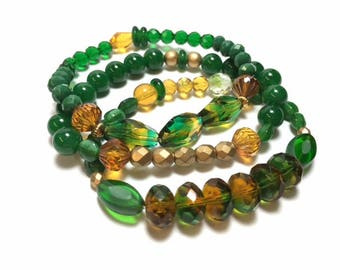 Packers Green and Gold Set of 3 Bracelets