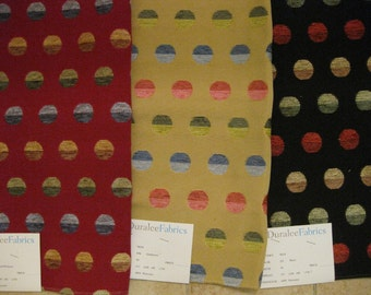 Funky Retro Chenille Circles Duralee Designer Fabric Sample 36152 Pick One