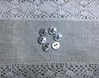 6 pieces Metal Button Connectors 10mm
