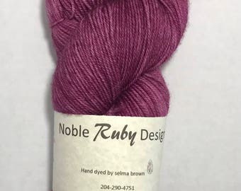 Hand dyed sock yarn - MCN - You Had Me At Merlot