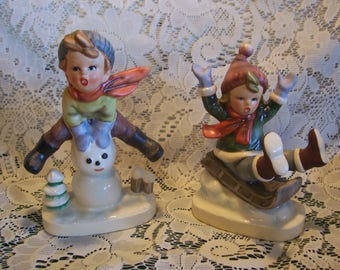 Rare HTF Napc Christmas Figurines, Japan