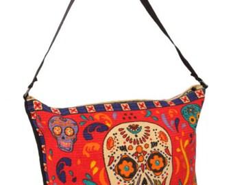 Sugar skull purse