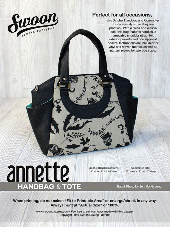 Swoon Patterns: Annette Satchel Handbag & Commuter Tote PDF