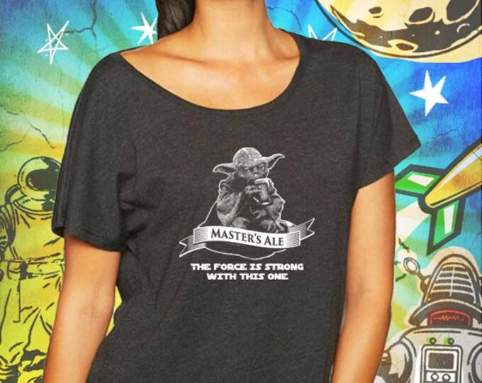 Star Wars / Master Yoda's Jedi Ale / Vintage Black Women's Dolman T-Shirt