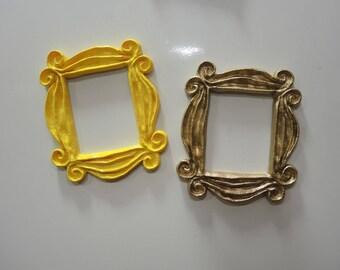 Friends Frame TV Show monica photo frame door yellow, 4 Inch