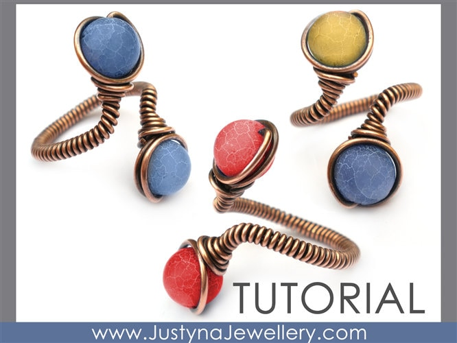 Wire Jewelry Tutorial Beaded Ring Tutorial Wire Wrapping