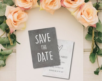 100 A6 Double Sided Personalised Save the Date cards