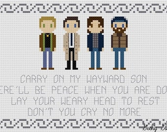 Supernatural Song Quote Cross Stitch Pattern