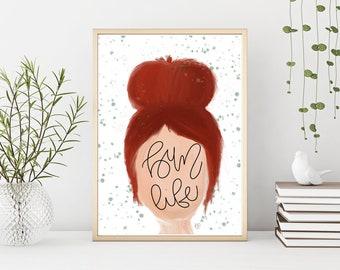 Bun Life Digital Art Print   Bun Life   Illustration   Wall Art   Wall Decor   Home Decor   Digital Art   Digital Print   Gift