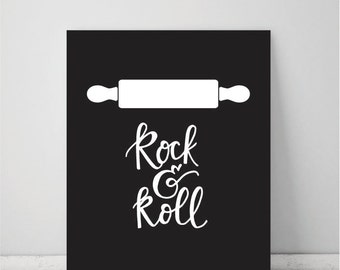 Rock & Roll Kitchen Pun Art Print