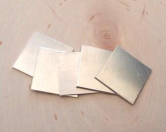 5pc aluminum squares , 14 gauge aluminum stamping blanks , aluminum rectangles