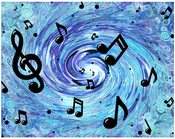 Musical Blue Print Poster
