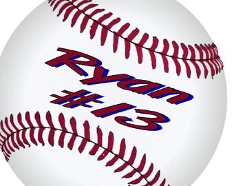 Personalized Baseball Bag Tag