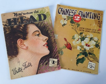 Walter Foster Art Book #128 / Vintage Oversized Art Books / Chinese Painting