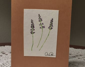 Delicate Lavender Greeting Card