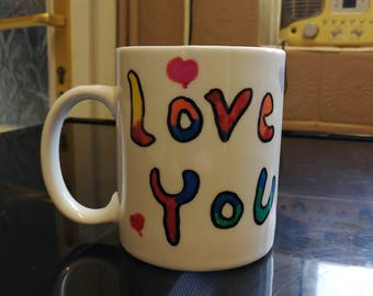 Hand painted mugs and plates