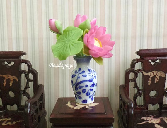 Miniature Flower Vase Dollhouse Diorama Decoration Tabletop