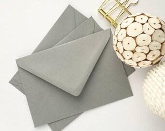 Grey envelopes Etsy
