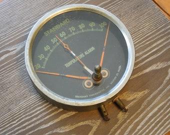 Steampunk Gauge , Temperature Alarm Gauge , Large Gauge