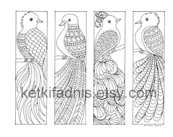Coloring Bookmarks - Abstract design - PDF file - Bookmarks to color ...